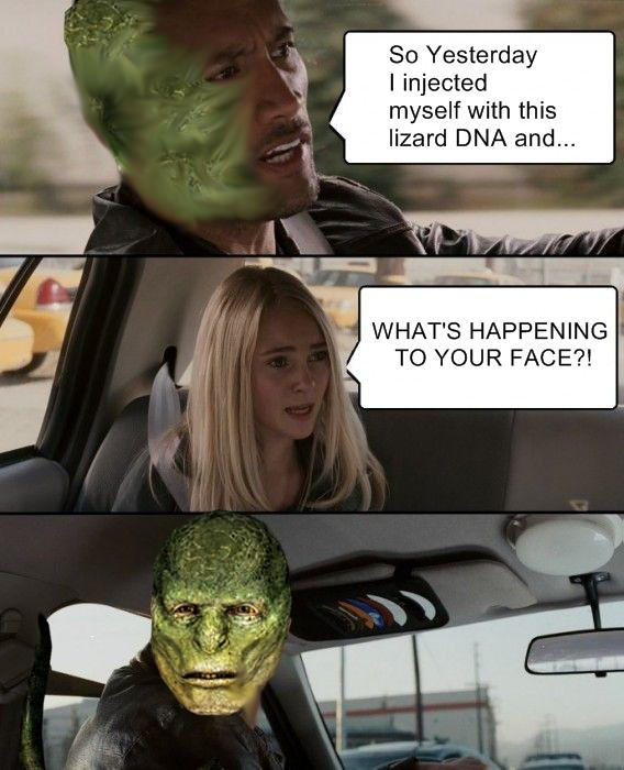 The Rock Driving Lizard Meme
