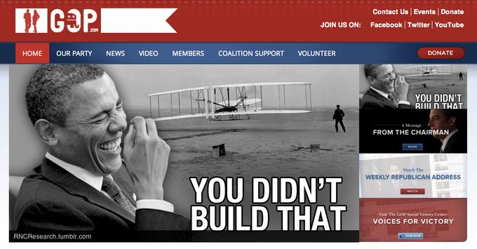 GOP.com Homepage