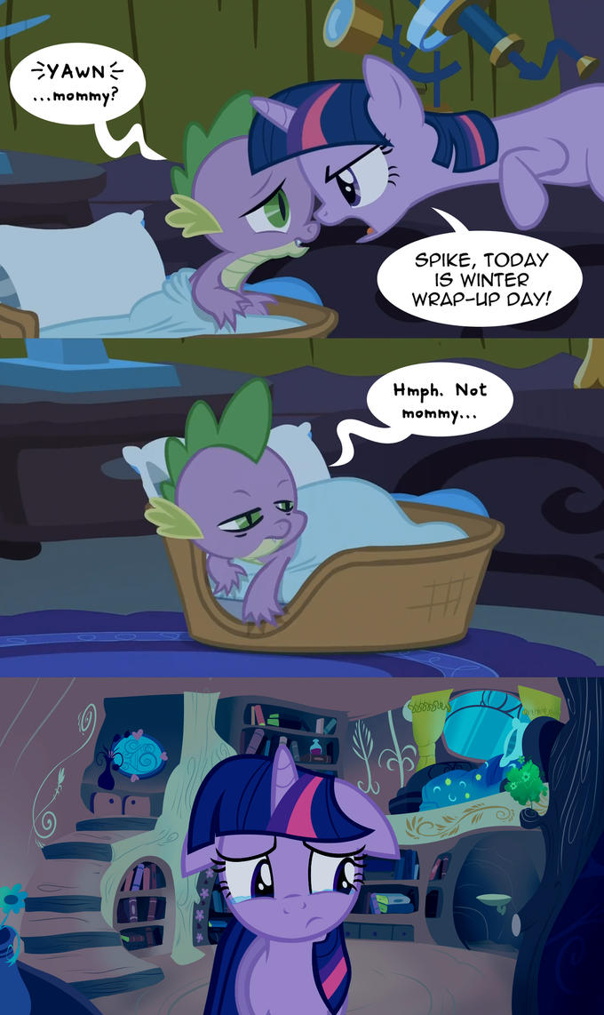 Spike hurts Twilight's feelings