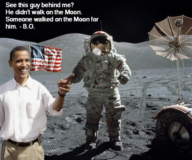 Obama on the moon