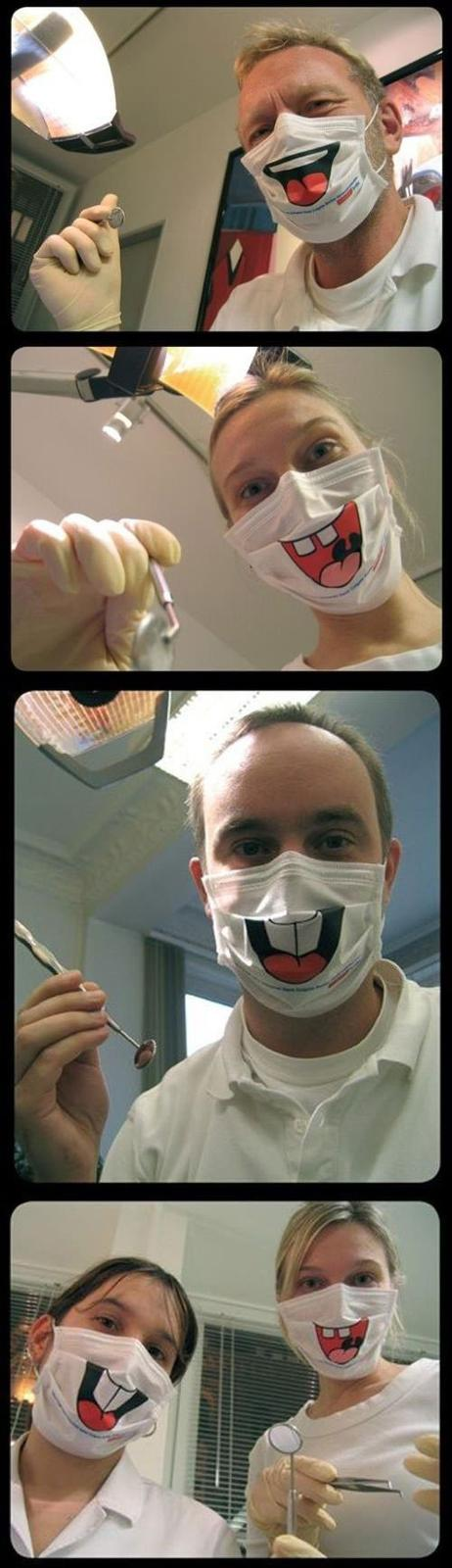 Creepy Dentist Smile Masks