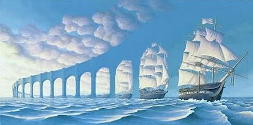 Optical Illusion Ship