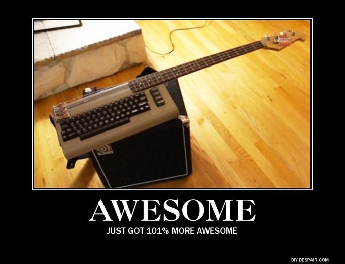 Awesome Commodore 64 Guitar