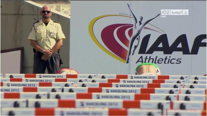 Sunglasses Man Behind Michelle Jenneke