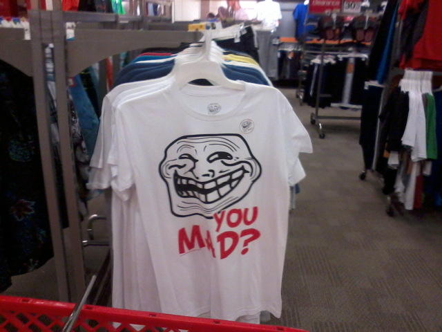 Troll face shirt at Target
