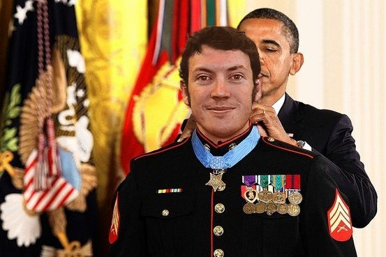 James Holmes with President Obama