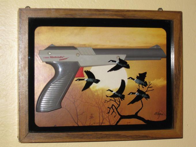finely framed duck hunt
