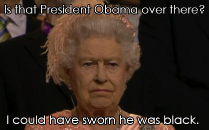The Queen Notices Gov. Romney