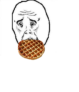 Just a sad guy eating a waffle
