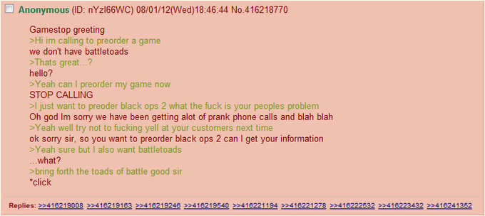 Bring Forth The Toads of Battle (original post on 4chan Screencap)