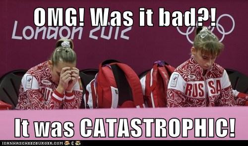 Tim Daggett reacts to Russian Gymnast at 2012 Olympics