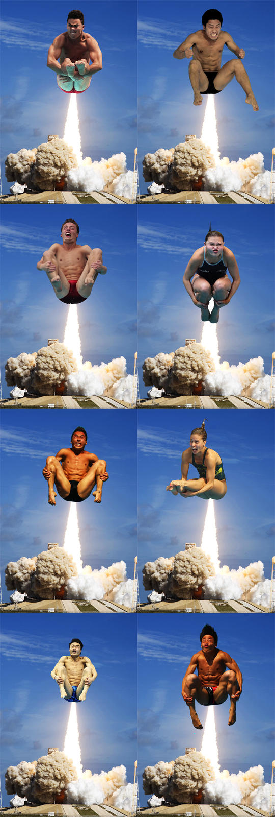 Olympic Divers MEME: Rocket Butt