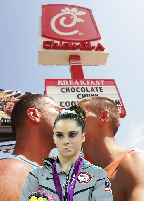 McKayla is not impressed with gays kissing at Chick-fil-A