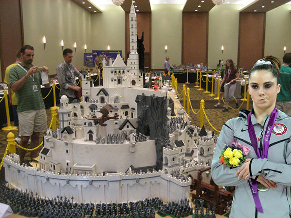 McKayla is not Impressed by Your Lego Minas Tirith