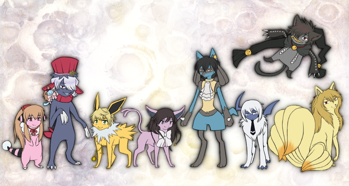 Pandora Hearts Pokemon by http://willa1313.deviantart.com/