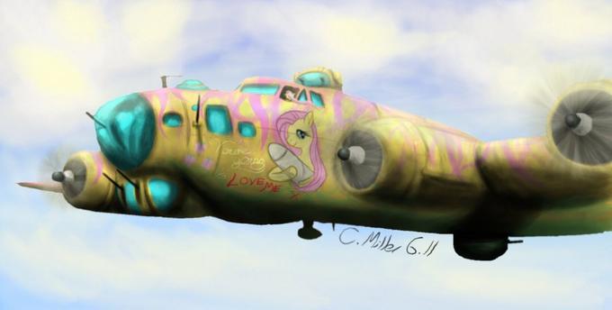 Fluttershy in a B-17