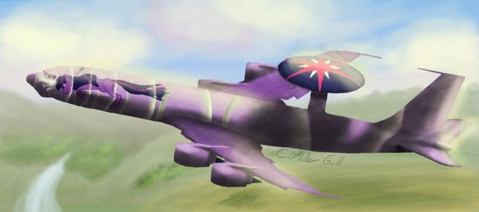 Twilight Sparkle in an AWACS
