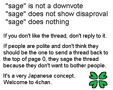 Sage is not a downvote