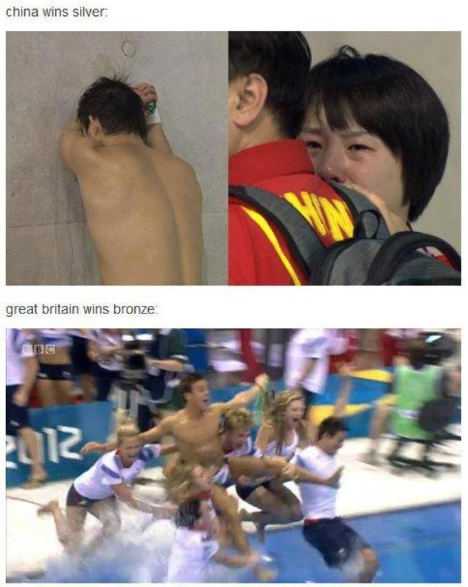 China wins silver medal in diving olympics...or loses?