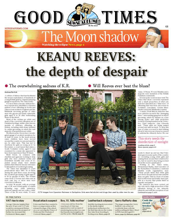 Sad Keanu Newspaper Article
