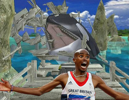 Mo Farah Running That Whale In Sonic Adventures
