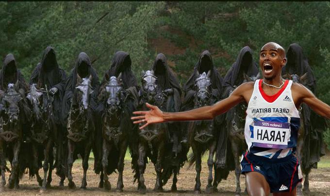Mo Farah Running From The Nazgul