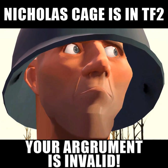 Nicholas Cage is in Team Fortress 2