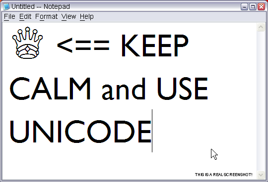 Keep Calm and Use Unicode