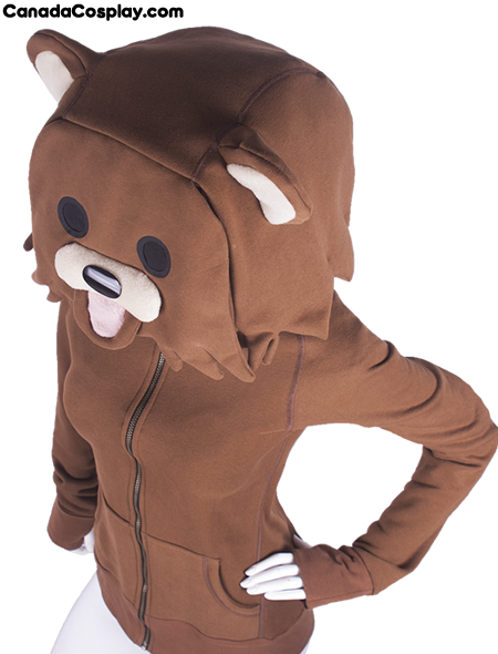 Pedobear Hoodie on female from canadacosplay.com