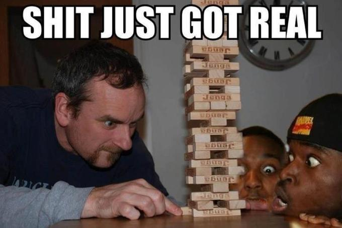 we 'bout to have Jenga up in here