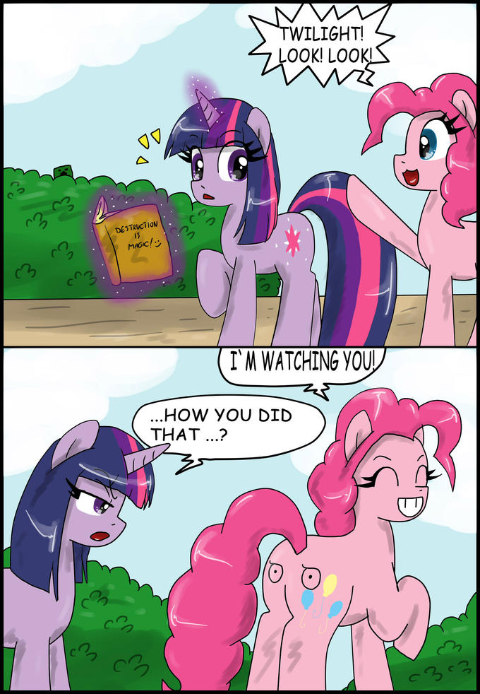 Pinkie is watching