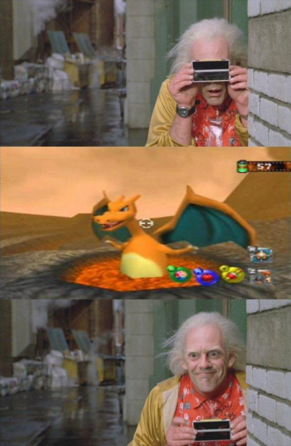 Doc Brown Snaps A Charizard