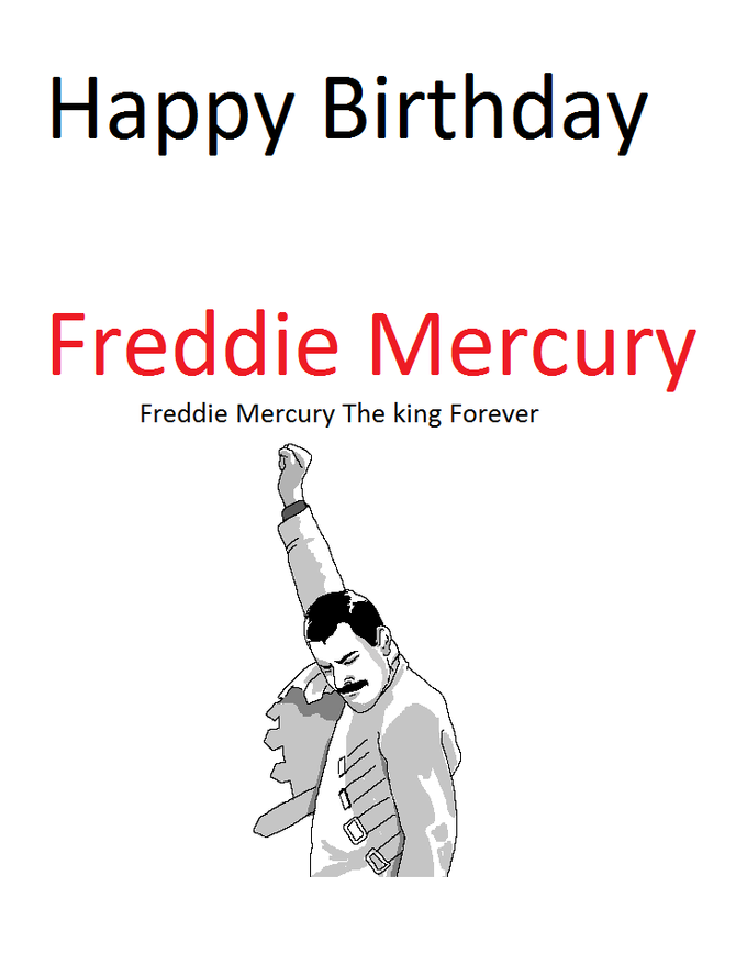 Freddie Mercury The king