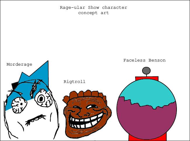 Rage-ular Show Characters