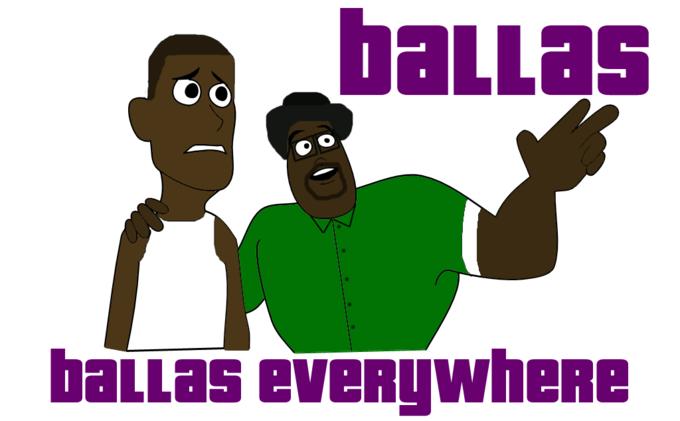 Grand Theft Auto San Andreas - Ballas, Ballas Everywhere