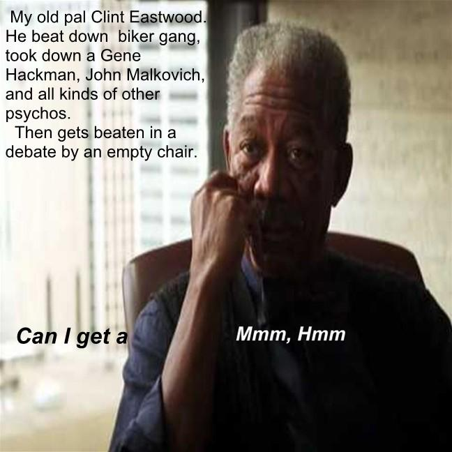 Morgan Freeman Mmm,Hmm moment about clint eastwood