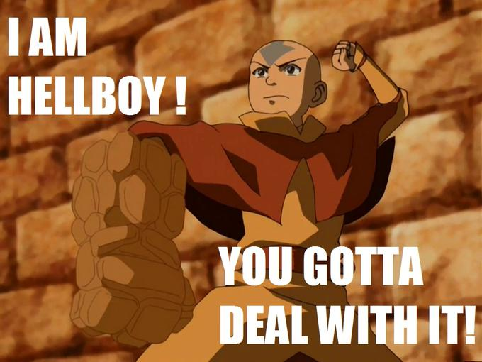 Aang is Hellboy. Deal with it.