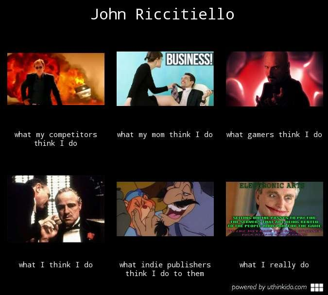 What people think John Riccitiello do.
