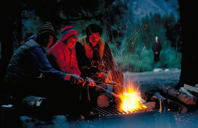 Slender man campfire