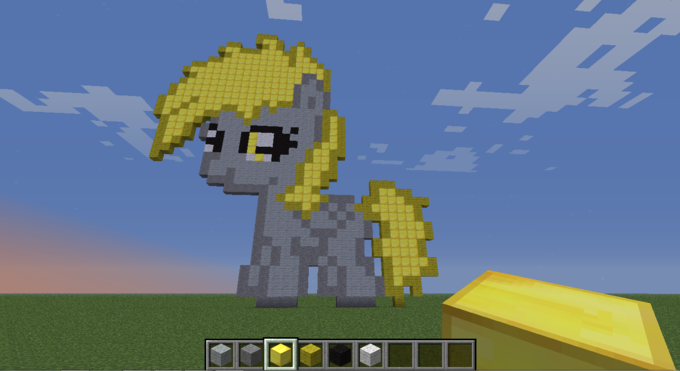 Filly Derpy Hooves. Took me 2 hours to complete.