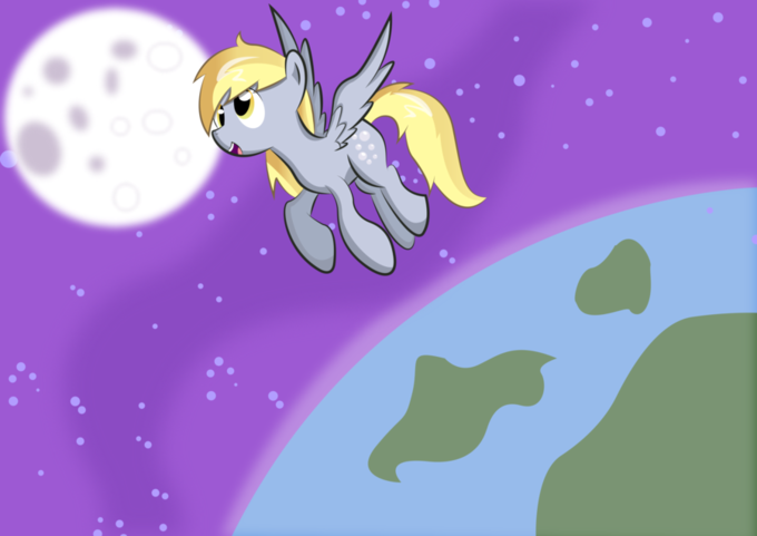 Derpy in the Space