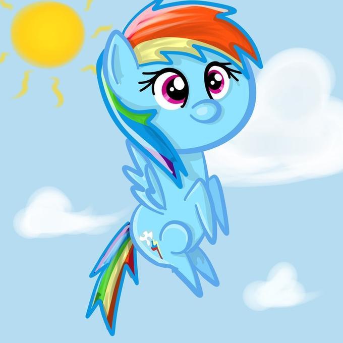 Rainbow Poof