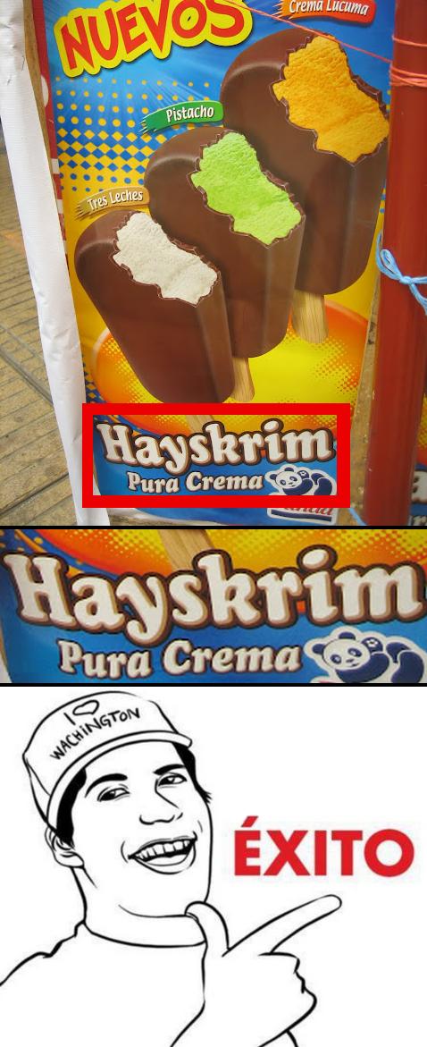 Ice Cream = Hayskrim