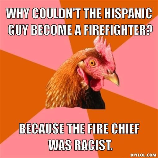 Anti Joke Chicken on Jose the Firefirghter