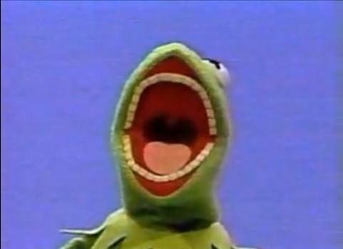 Kermit with teeth