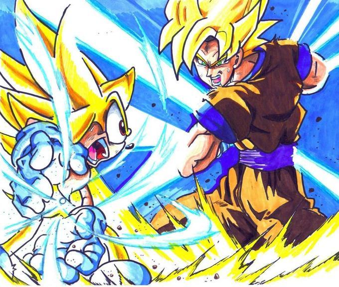 Super Sonic vs. SSJ Goku