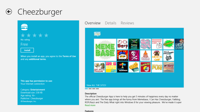 Cheezburger Windows 8 App