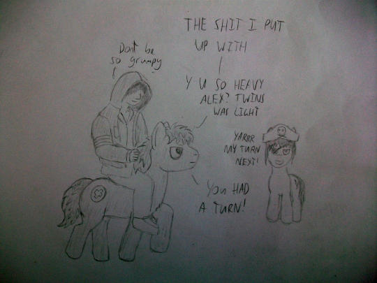 Pony General wat r 2 u doin? Pony General...STAHP!