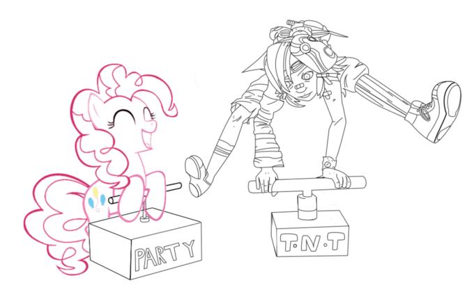 Tiny Tina and Pinkie Pie