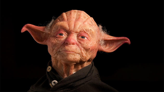 "Sculptors of a ""More Human"" Yoda"